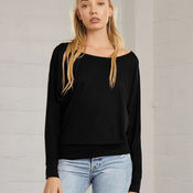 Flowy Off Shoulder Long Sleeve T-Shirt